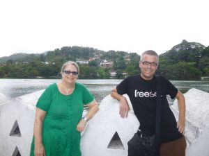 Julie and Reubs at Lake Kandy