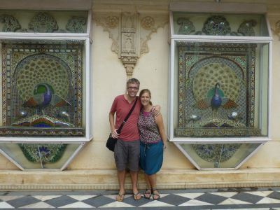 Exploring the palace