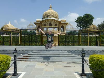 Jumping on Jagmandir