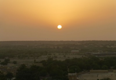 Sunset from the fort