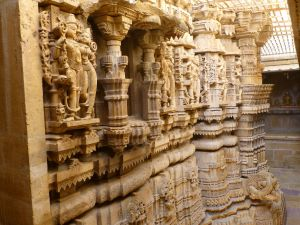Carvings in the temple
