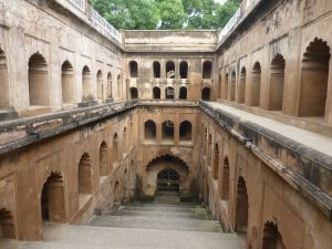 At the stepwell