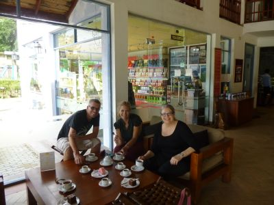 Reubs, Karen and Julie tasting tea