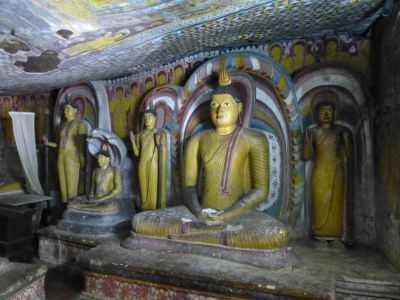 Statues in the temples