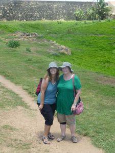Karen and Julie exploring
