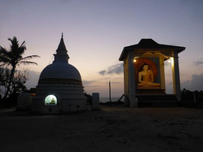 Twilight at the temple