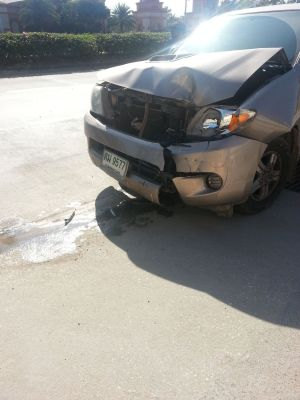 This was the car that sideswiped us after it hit another car