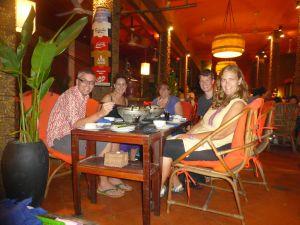 Dinner with Anna, Matt and Mels