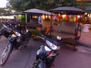 Tuk tuks Cambodian style