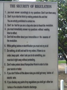 The rules at Tuong Sleng