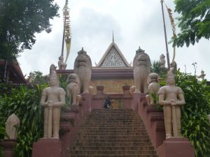 Steps up to Wat Phnom