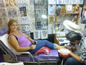 Getting my first tattoo
