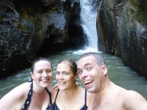 Time for a swim in the freezing waterfall